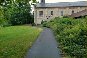 Zugang zum Kloster Jokobsberg
